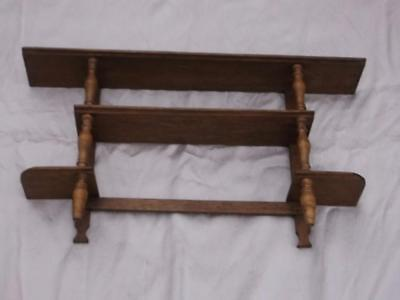 Very Nice Early 20Th Century Hand Made Wooden Wall Shelf For Nik Nacks