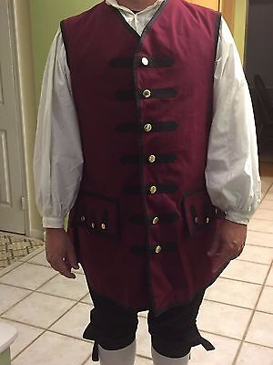 Men's Large Colonial Costume Halloween Costume Adult Man Lg Pirate Costume