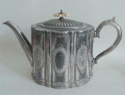 ANTIQUE SILVER PLATED TEAPOT c 1870-80