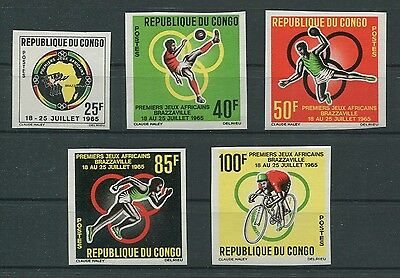 CONGO AFRICAN-GAMES 1965 UNGEZÄHNT SPORT SPORTS IMPERF NON DENTELE RARE h1263