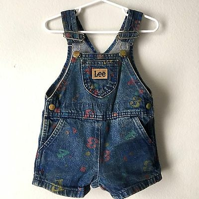 Vintage Lee Overalls Toddler Size 24 Months ABC 123 Made in USA UGWA