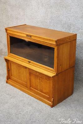 WABASH Co Sectional Low Barrister Bookcase Shelf Curio Display Storage Cabinet
