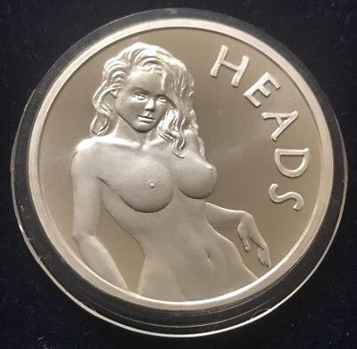 Heads or Tails 1 Oz .999 Fine Silver Round In Capsule