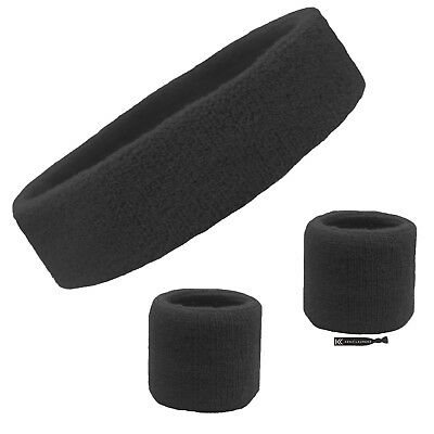 1 Set 3 Piece Sports Bands HeadBand WristBands Sweatbands Workout Gym Basketball
