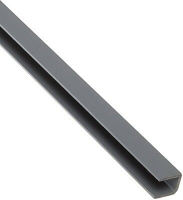 PVC (Polyvinyl Chloride) U-Channel, Opaque Gray, Equal Leg Length, Rounded NSF