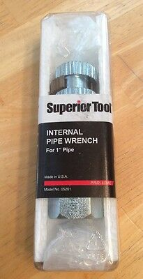 """1/2"""" Internal Pipe Wrench Superior Tool #05212 New in Package"""