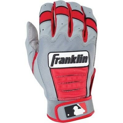 Franklin CFX Pro Series Batting Gloves - Gray/Red - M