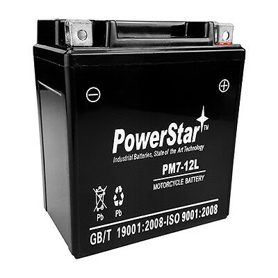 POWERSTAR REPLACES MBTX7U 12V 8Ah Motorcycle Battery Replaces YTX7L-BS