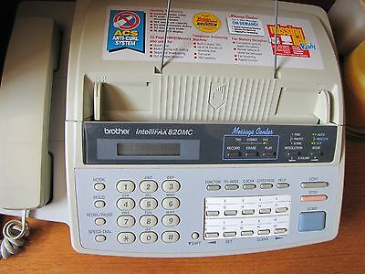 Brother IntelliFAX 820MC, Excelent Condition,  Does not require a separate line