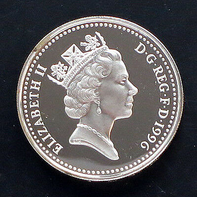 1996 UK-Silver Proof One-Pound Coin     KM#: 972a