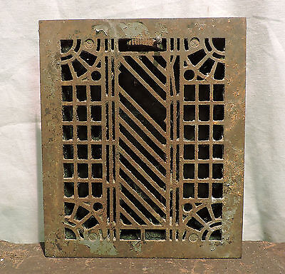 Antique Late 1800's Cast Iron Heating Grate Rare Scarce Design 11.5 X 9.75