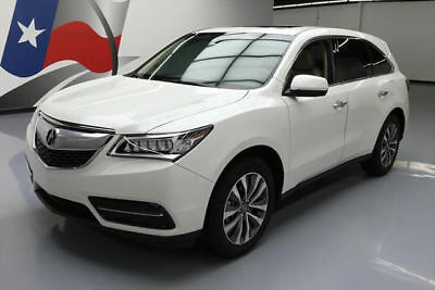 2015 Acura MDX Base Sport Utility 4-Door 2015 ACURA MDX TECH 7-PASS HTD LEATHER NAV DVD 34K MI #004541 Texas Direct Auto