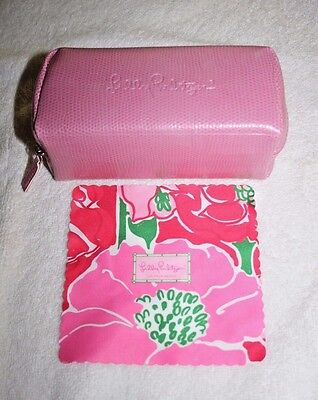 Lilly Pulitzer Pink Eyeglass Case With Cleaning Cloth Nwot