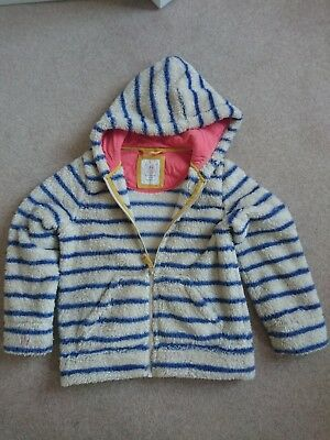 Mini Boden age 7, striped full zip fleece jacket