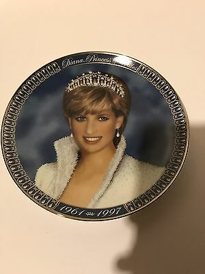 Princess Diana Of Wales Franklin Mint Collectors Tribute Plate 1961-1997 Limited