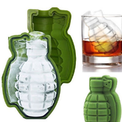 Grenade Shape 3D Ice Cube Mold Maker Bar Party Silicone Trays Mold Mold Gift