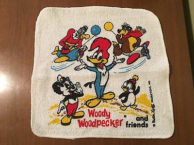 2 Vintage Walter Lantz Woody Woodpecker & Friends Childs Washcloths