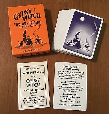 MINT Vintage Gypsy Witch Fortune Telling Playing Cards w Instructions