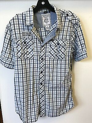 Buffalo David Bitton men's short sleeve button down shirt. size S
