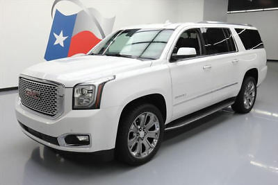 2016 GMC Yukon Denali Sport Utility 4-Door 2016 GMC YUKON XL DENALI 4X4 sunroof nav dvd 22's 34k #221642 Texas Direct Auto
