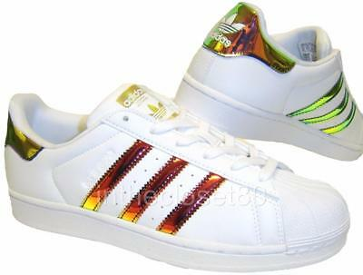 Adidas Superstar Iridescent White Metallic Gold Kids Childrens Girls Boys CP9838