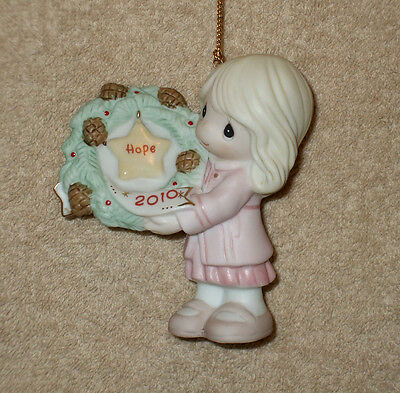 2010 Precious Moments MY HOPE IS IN YOU Christmas Ornament 101002 - NIB