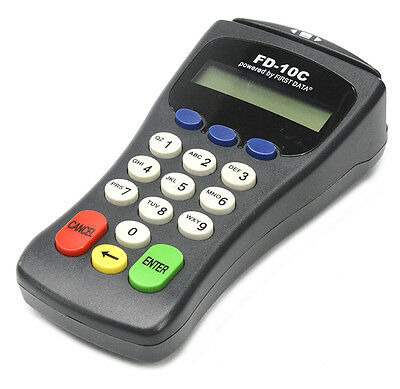 First Data FD-10C PIN Pad w/ Card Reader & USB Cable Accepts Debit EBT Payments