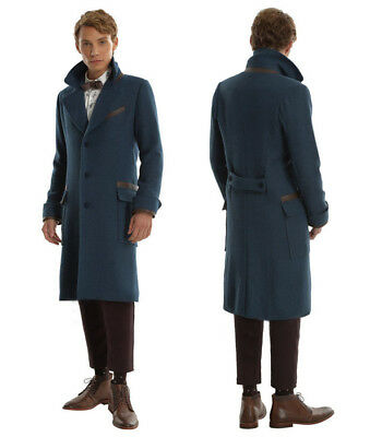 Official Newt Scamander Coat Fantastic Beasts Overcoat Costume Cosplay Jacket