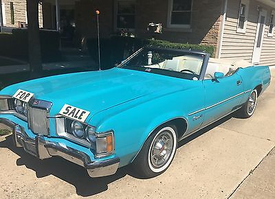 1973 Mercury Cougar XR-7 1973 Mercury Cougar 2 Door Luxury Convertible 351C 2V Cleveland V-8 Engine