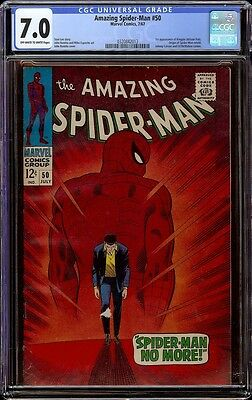Amazing Spider-man # 50 CGC 7.0 OW/W (Marvel, 1967) 1st appearance of Kingpin