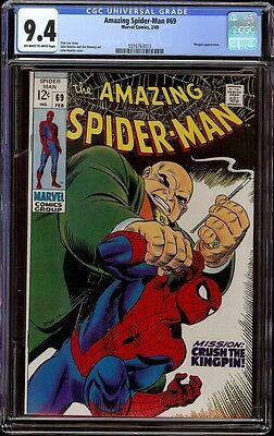 Amazing Spider-man # 69 CGC 9.4 OW/W (Marvel, 1969) Kingpin cover and appearance