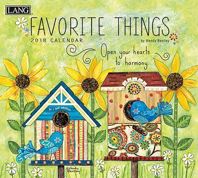 Favorite Things 2018 Wall Calendar NEW by Lang, Shipping Included