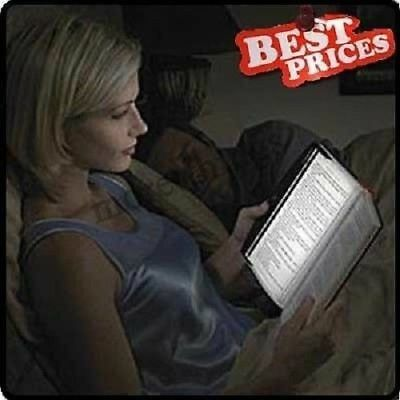 New LED Light Battery Powered Wedge Panel Book Reading Lamp Paperback Night Gift