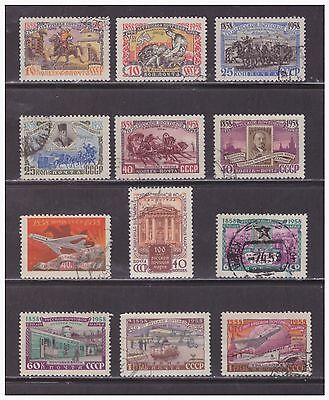 Russia, Scott 2095-2106, Used, Centenary Of Russian Stamps, 1958.