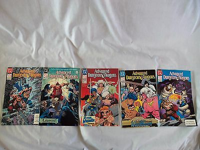 5 Advanced Dungeons And Dragons Dc Comics 1990 Near Mint