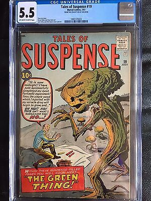 TALES OF SUSPENSE #19 CGC FN- 5.5; OW-W; Kirby, Ditko art; The Green Thing!