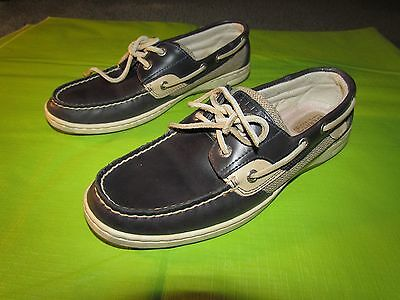 Men's Sperry TOP SIDER Boat Shoes Dark Navy Size 9.5