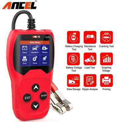 BST200 12V Auto Load Battery Tester Digital 100-1100 CCA Car Battery Analyzer