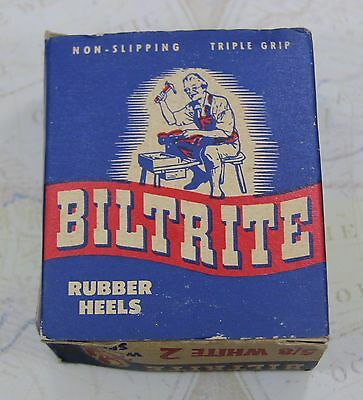 Vintage BILTRITE Women's Sport White Rubber Heels in Original Box