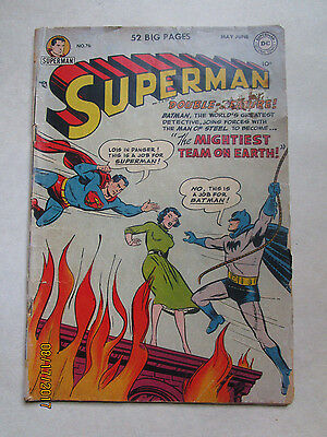 Key Issue - Superman # 76 Batman & Superman  Learn Each Others Id For First Time