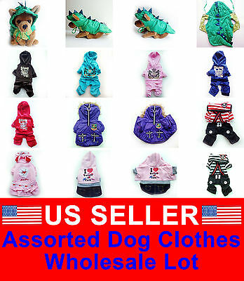 WHOLESALE LOT of 10 Chihuahua Pet Dog Clothes Puppy Costume Apparel Boy M