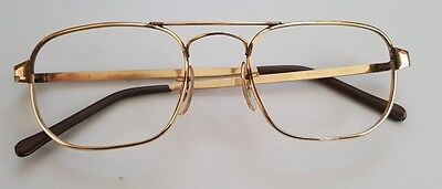 Vtg American made Aviator Glasses 12 k.t 1/20 Gold Filled Us Optical 5 1/2