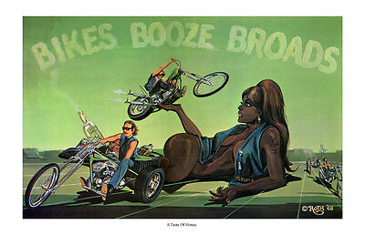 Dave Mann Ed Roth Studios Poster Print A Taste of Honey Motorcycle Chopper