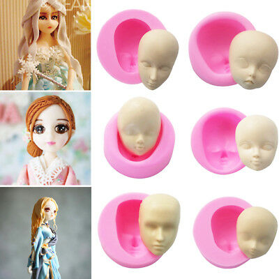 Critive 3D Silicone Gel Human Dolls Head Face DIY Cake Mold