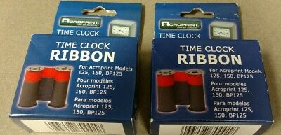 Lot of 2 ACROPRINT 125,150, Time Clock Ribbon RED/BLUE INK 20-0106-002 both new