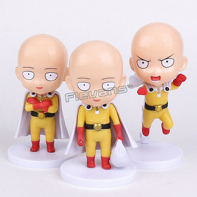 one punch man saitama set of 3pcs pvc figure toy anime collection new