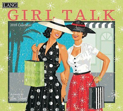 Girl Talk 2018 Wall Calendar NEW by Lang, Shipping Included