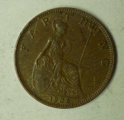 Great Britain 1936 1 Farthing Coin