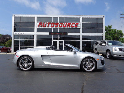2011 Audi R8 2dr Conv Auto quattro Spyder 4.2L 2011 AUDI R8 SPYDER CONVERTIBLE ONLY 10K MILES WELL EQUIPPED FULL LEATHER CARBON