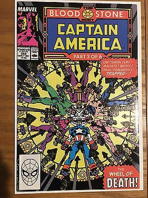Captain America 359 , 360 (1989)  NM,  First Appearance Crossbones, High Grade